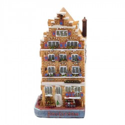 Polystone Grachtenhuisjes Bloemenwinkel - Linker hoekwoning