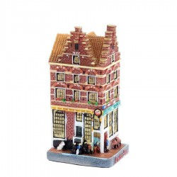 Polystone Grachtenhuisjes Cafe Papeneiland - Linker hoek