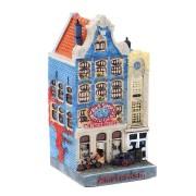 Polystone Grachtenhuisjes Het smalle huisje