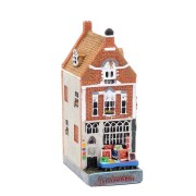 Polystone Canal Houses Paintings - Amsterdams Welvaren
