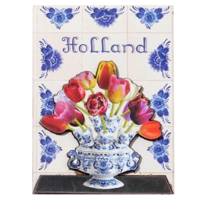 Tableau tulipvase - 3D MDF