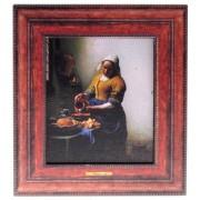 Bekende Schilders Melkmeisje - Vermeer - 3D MDF