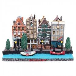 Polystone Grachtenhuisjes Basement Holland 4 of 5 huisjes