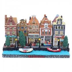 Polystone Grachtenhuisjes Basement Amsterdam 4 of 5 huisjes