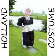 Klederdracht Kostuum Meisje 7-9 jaar Holland Kostuum