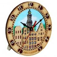Clock 2D Amsterdam Wooden 16cm