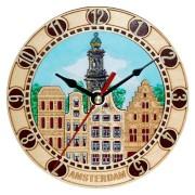 Clocks Clock 2D Amsterdam Wooden 16cm