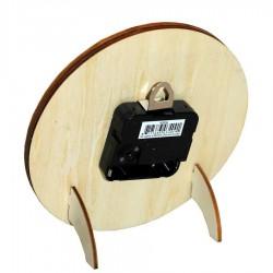 Clocks Clock 2D Kissing Couple Wooden 16cm