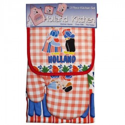 Kitchen textiles  Kitchen Set - Red Kissing Couple