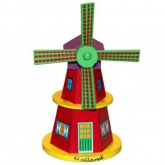 Wooden Windmill Wooden Windmill Red 16cm