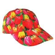 Caps - Baseball Caps Tulip Print - Cap