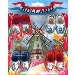 4 memo-magnet wooden shoes pair 4cm