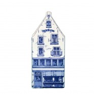 Delft Blue - Large Triangular Gable -  Canal House