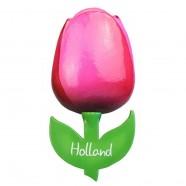 Tulip Magnets Pink Red - Wooden Tulip Magnet 6cm
