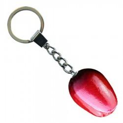 Tulip Keychain Red White - Wooden Tulip Keychain 3.5cm