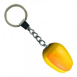 Tulip Keychain Yellow Orange - Wooden Tulip Keychain 3.5cm