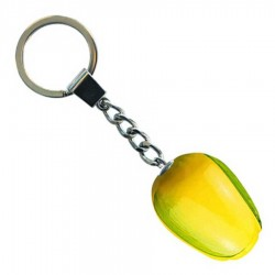 Yellow Green - Wooden Tulip Keychain 3.5cm
