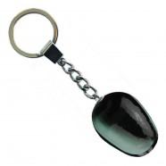 Tulip Keychain Black White - Wooden Tulip Keychain 3.5cm
