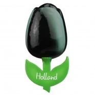 Tulip Magnets Black White - Wooden Tulip Magnet 6cm