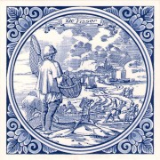 Tiles The Fisherman - Tile 15x15 cm