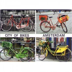 City of Bikes Amsterdam - Flat Magnet