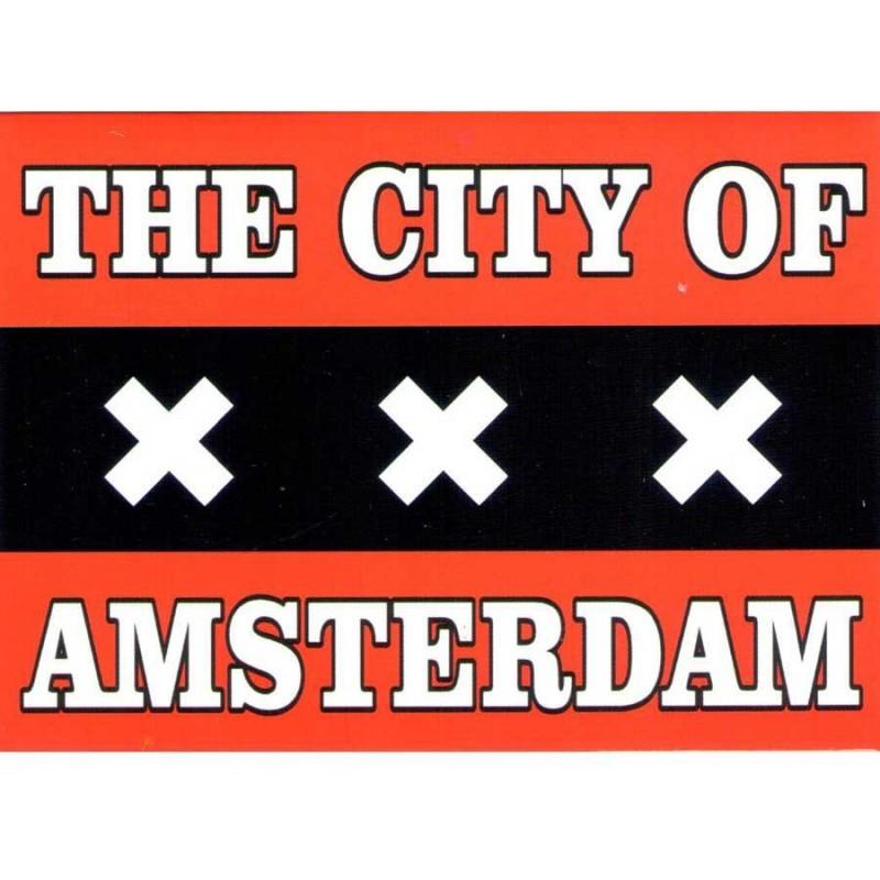 Vlag van Amsterdam - Platte Magneet