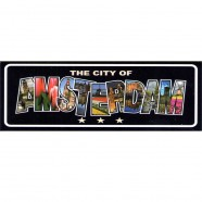 Black Amsterdam Rectangle - Flat Magnet