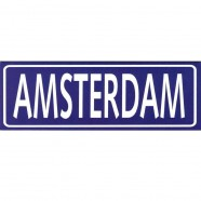 Blue Amsterdam Rectangle - Flat Magnet