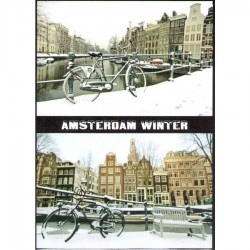 Winter in Amsterdam - Flat Magnet