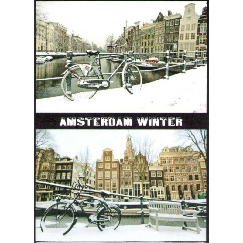 Winter in Amsterdam - Platte Magneet