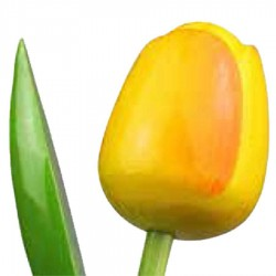 Wooden Tulips YellowOrange - Bunch Wooden Tulips