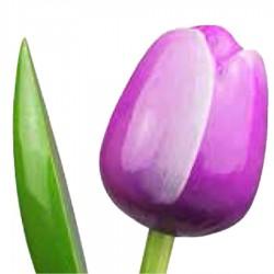 PaarsWit - Boeket Houten Tulpen