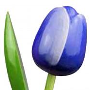 Blauw Wit - Boeket Houten Tulpen