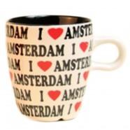 Mokken - Glazen I love Amsterdam - Koffie Mok 8cm