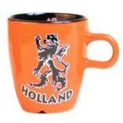 Mokken - Glazen Holland Oranje Leeuw - Koffie Mok 8cm