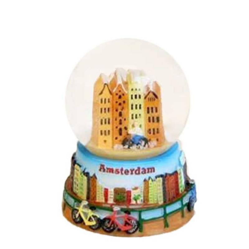 Canal Houses - Snow Globe 6cm