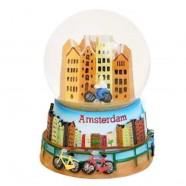Canal Houses - Snow Globe 9cm