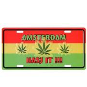 Kentekenplaat Amsterdam Hasj It