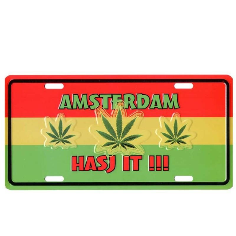 Amsterdam Hasj It - Kentekenplaat