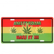 Amsterdam Hasj It - Licence Plate