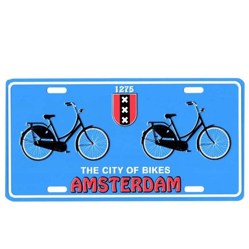 Amsterdam City of Bikes - Kentekenplaat