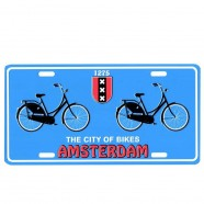 Licence Plates Amsterdam City of Bikes
