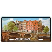 Licence Plates Amsterdam Canal