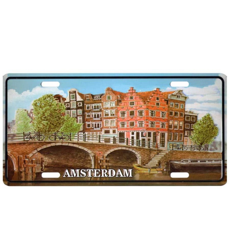 Amsterdam Canal - Licence Plate