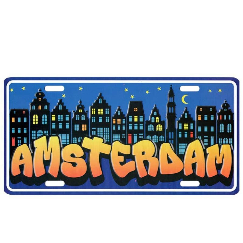 Kentekenplaat Amsterdam Nacht