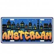 Licence Plates Amsterdam by Night