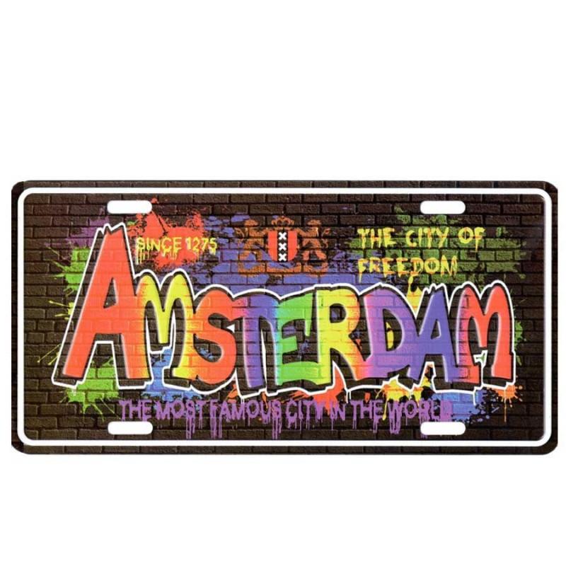 Grafitti Amsterdam - Licence Plate