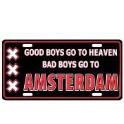 Kentekenplaat Bad Boys go to Amsterdam