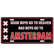 Licence Plates Bad Boys go to Amsterdam