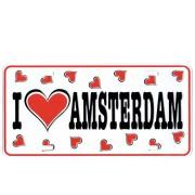 Kentekenplaat Love Amsterdam Hartjes